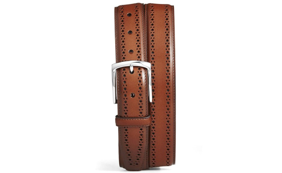 Allen Edmonds Manistee Brogue Leather Belt