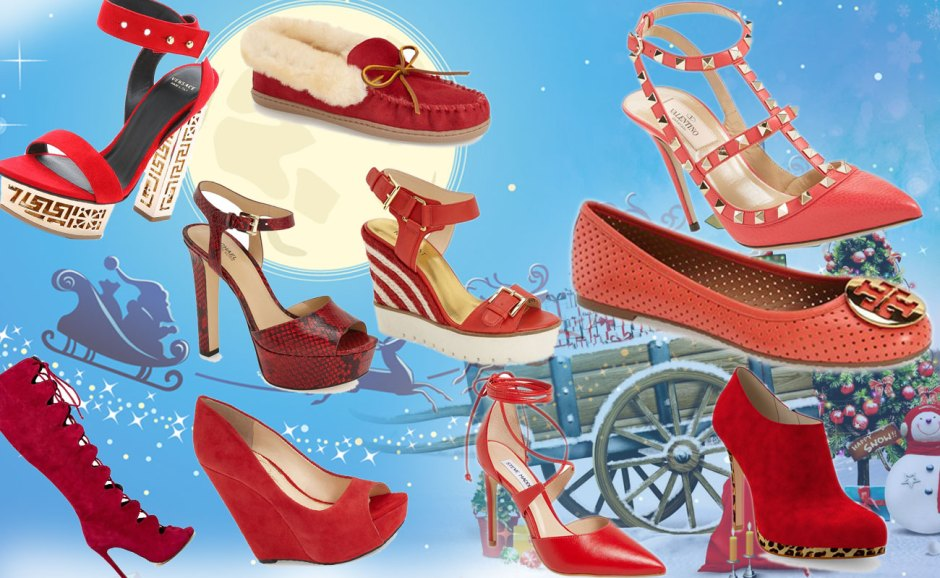 best red shoes for Christmas and New Year party