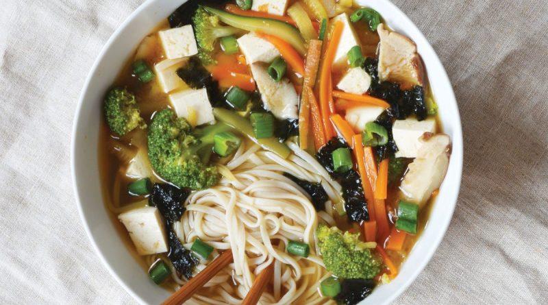 Shredded veg miso soup
