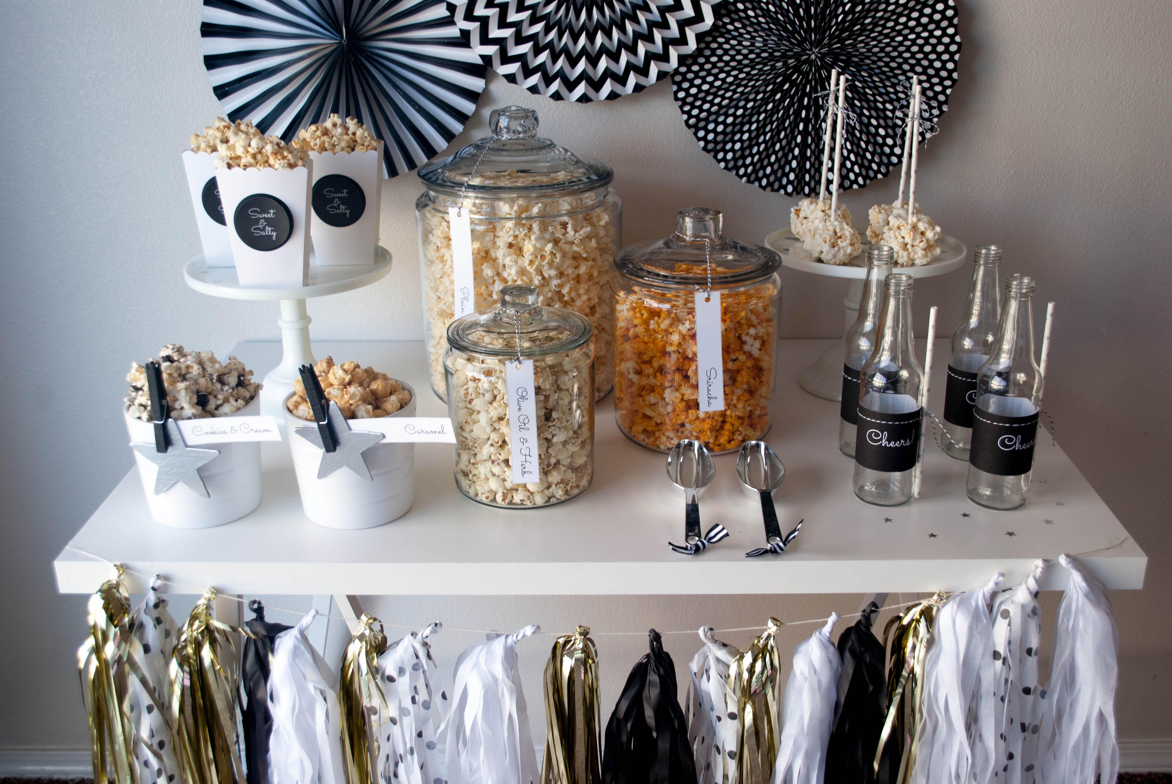 The Oscar Party Popcorn Bar Ideas Twinkle Twinkle