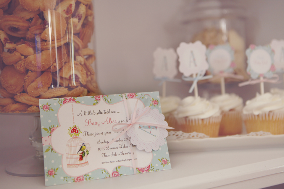 shabby chic tea party baby shower A