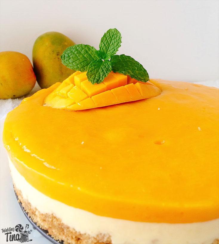 mango cheesecake, no bake cheesecake, recipe, mango cheesecake recipe, layered mango cheesecake, birthday cake