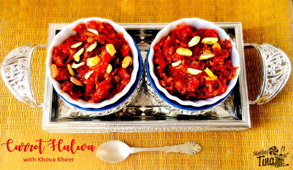 Carrot Halwa with milk solids | Gajar ka halwa with Khoya Kheer