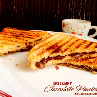 Just Simple Chocolate Panini – Easy Dessert Recipe | AtoZChallenge