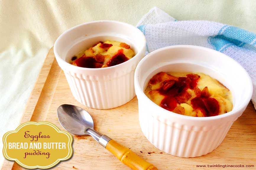 Eggless Bread and Butter Pudding | Easy Eggless Baking Recipe | #AtoZChallenge