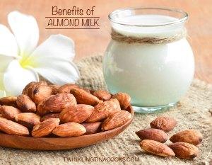 benefits of almond milk, almond milk