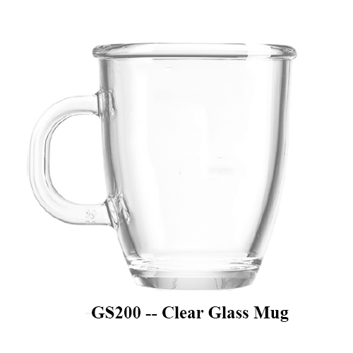 GS200 — Clear Glass Mug