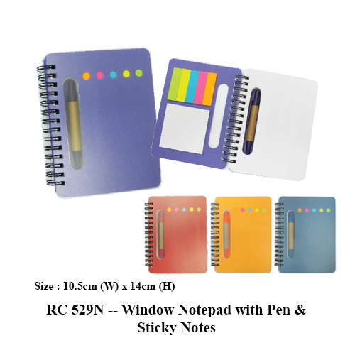 RC 529N — Window Notepad with Pen & Sticky Notes