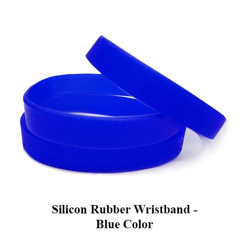 Silicon Rubber Wristband – Blue Color