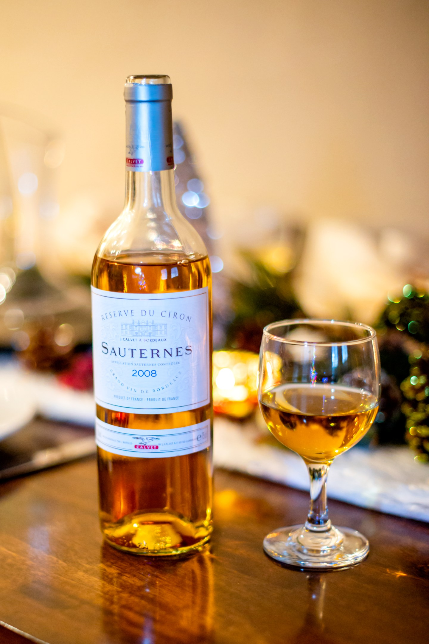 Christmas birthday party dessert wines