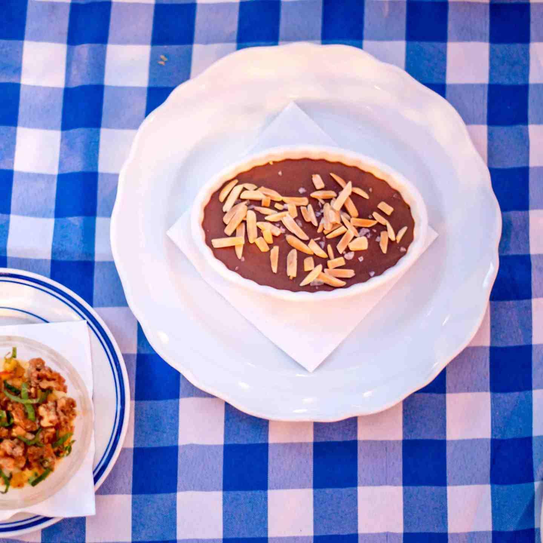 Claudette Chocolate Pot de Crème, Fromage Blanc Custard