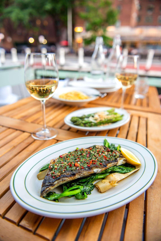 Rosemary's East – Linguine, Branzino, Asparagus. Best Restaurants in StuyTown