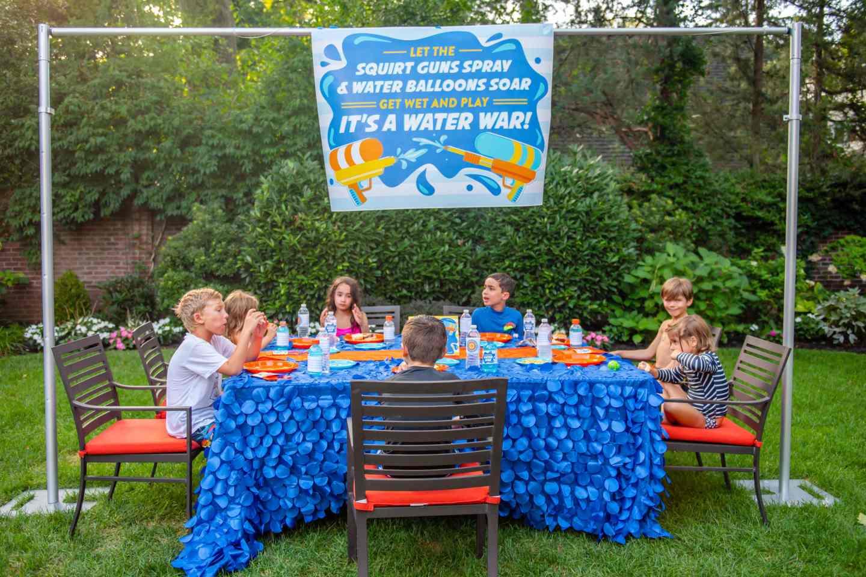 Water Wars - Kids Eating Burgers