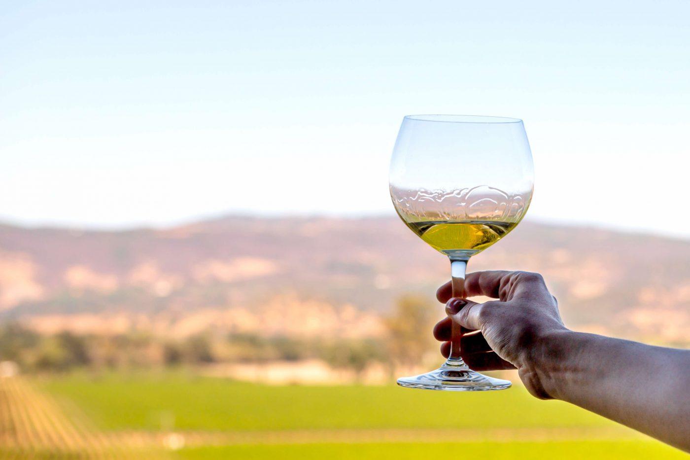 Glass of Far Niente Chardonnay