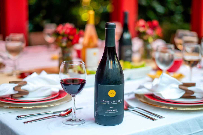Monis Cellars Pinot Noir. Fall Dinner Party Ideas.