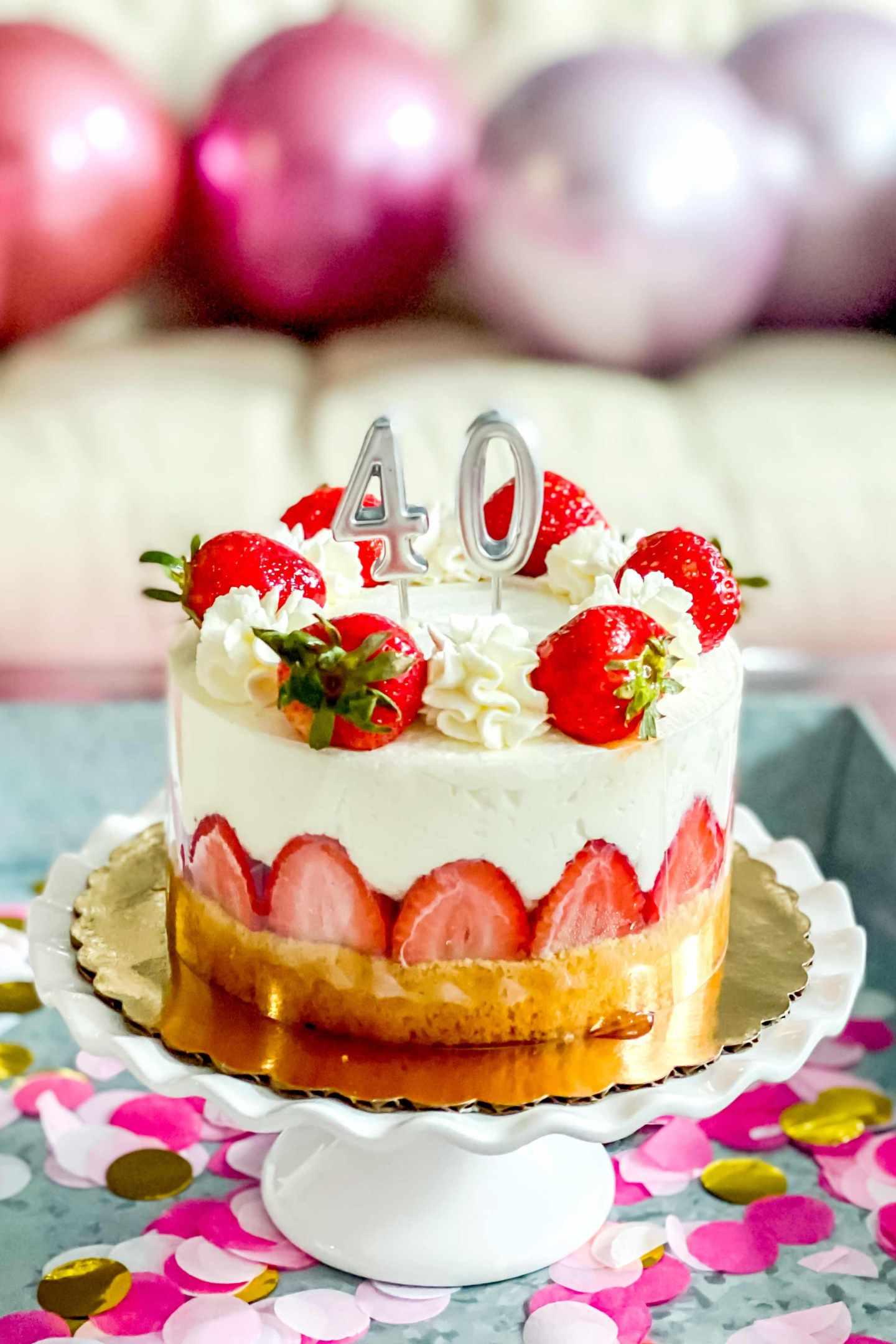 40th birthday cake, 40th birthday photoshoot