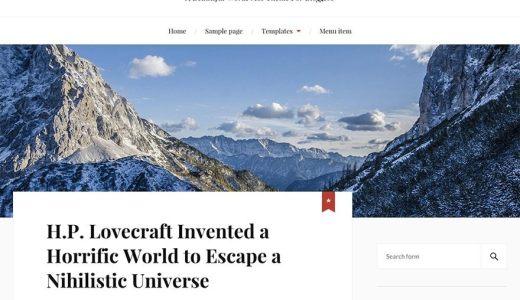 無料WordPressテーマ「Lovecraft」の評判・使い方・インストール方法