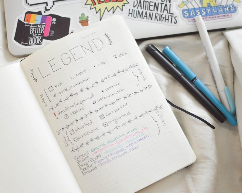 bullet journal - legend