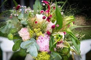 bruidsbloemstuk roze