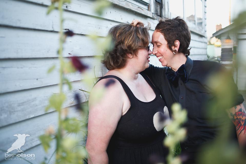 """Tamara + Aubrey""""s Engagement Photos at Home"""