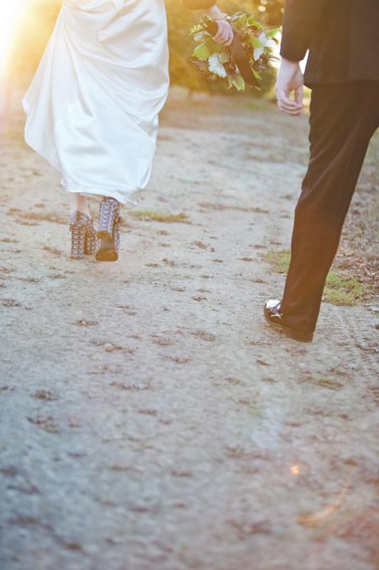 DIY Rock n Roll wedding at Postlewait's