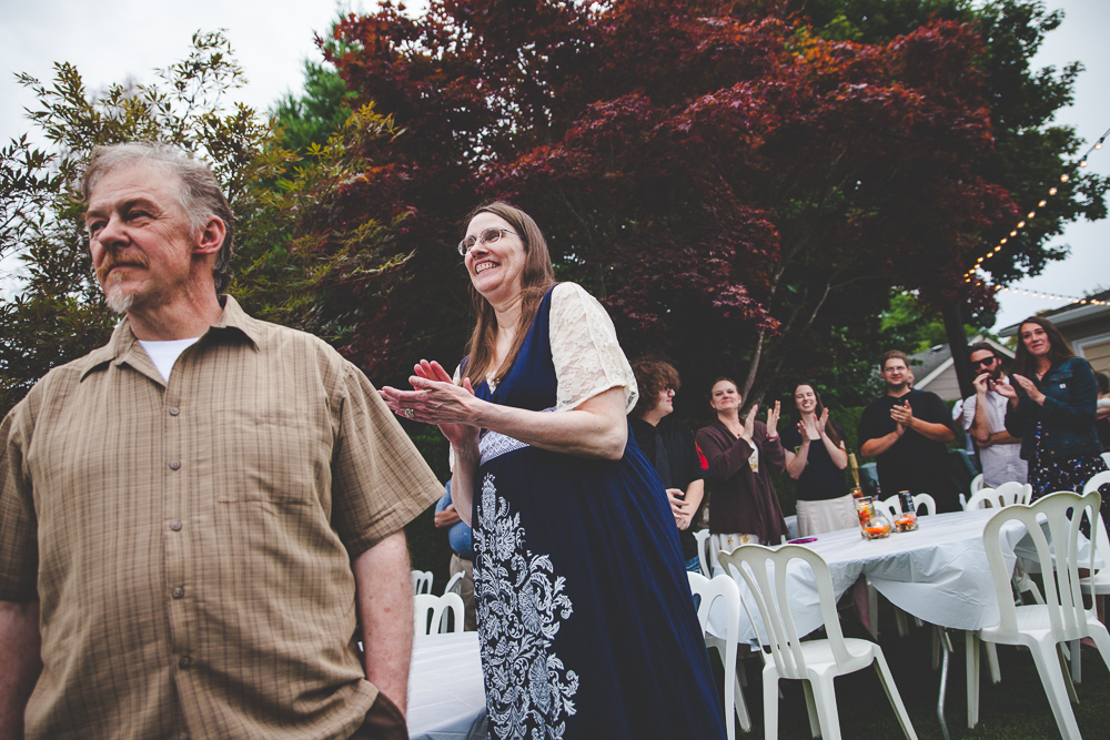 Eva + Eli's DIY Backyard BBQ Wedding