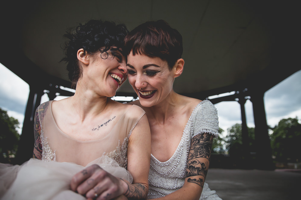 Lesbian Wedding Editorial for AniA Collection Dresses