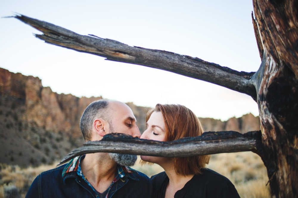 Caitlyn + Cameron's Smith Rock Engagement Adventure