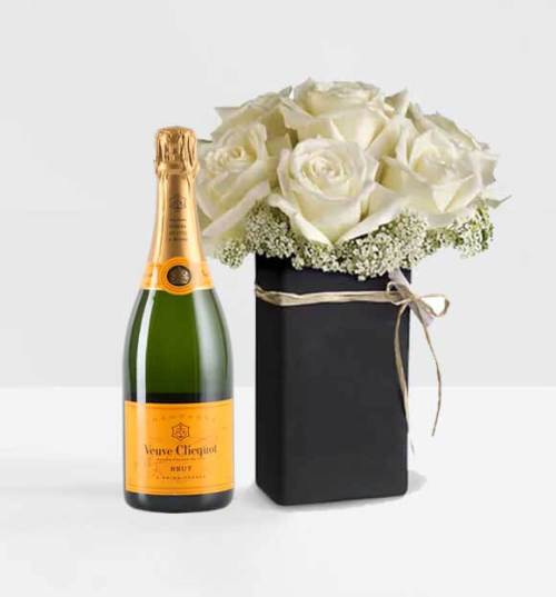 Chalk it Ivory Veuve Champagne and Roses Online