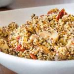 Sun Dried Tomato and Mushroom Quinoa | Twisted Tastes