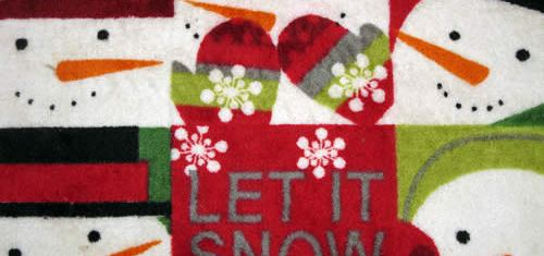 Let It Snow Mat Wallpaper
