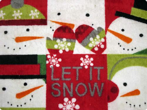 Let It Snow Mat Wallpaper