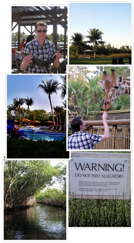 Alligators, giraffes, food and a good vacation.