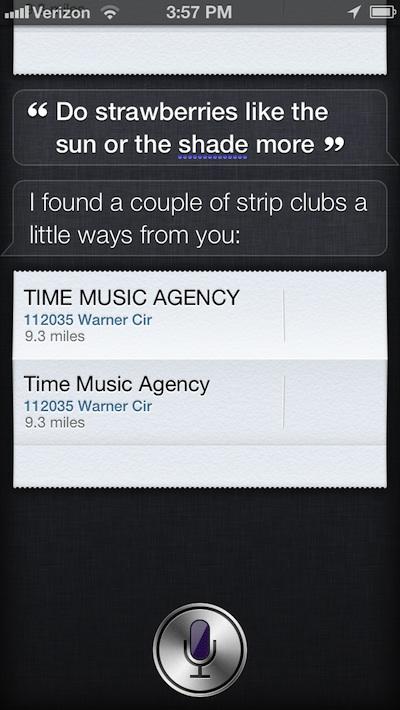 Siri Strip Clubs