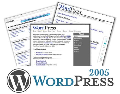 WordPress 2005