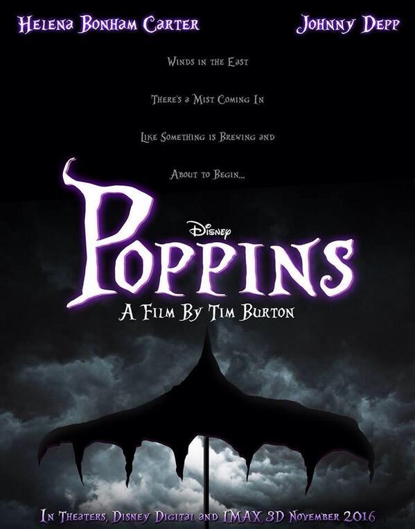 Tim Burton - Poppins Poster