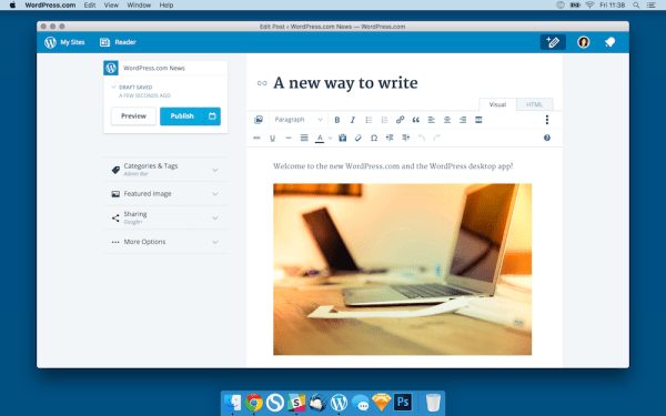 WordPress Mac Screenshot