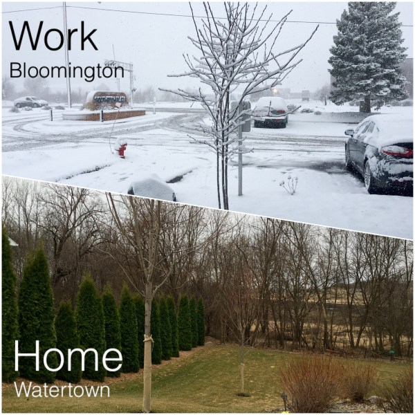 Snow at Work vs None at Home