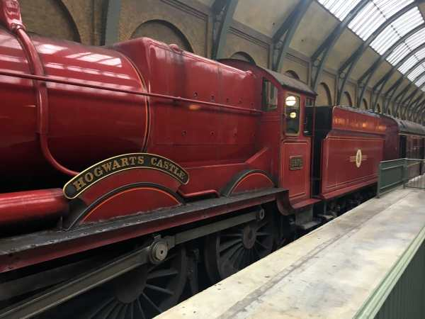 Hogwarts Express in the station.