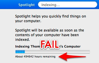 Spotlight FAIL - Only 494,642 hours remaining!