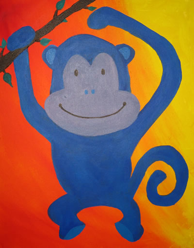 Monkey Painting for Lily