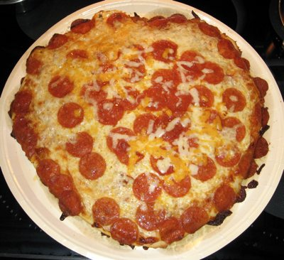 Actual Pizza After Baking