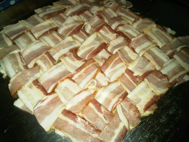 Weaved bacon goodness. on Twitpic