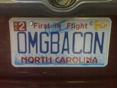 OMG Bacon License Plate