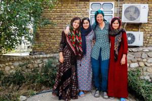 Interacting with teenage girls in Iran