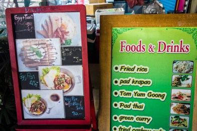 Great lunch spot menu
