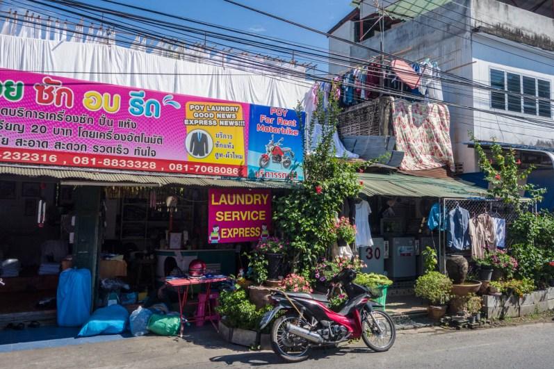 Road view laundromat