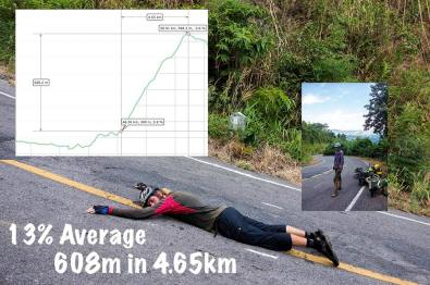 Steep hill in Thailand