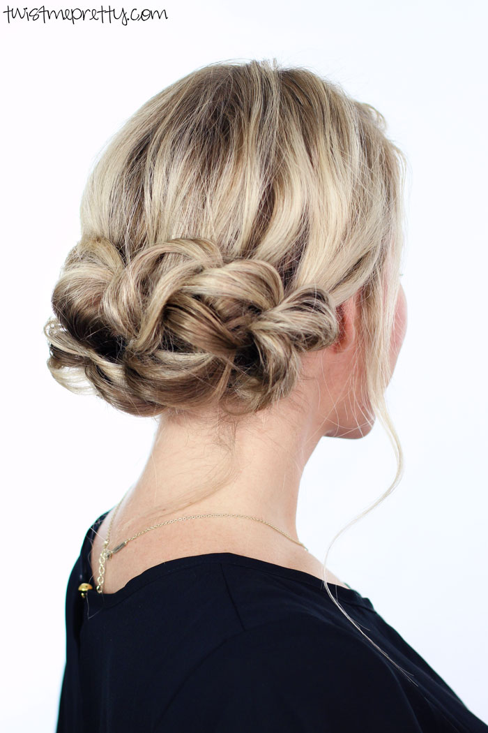 Elegant Holiday Updo Twist Me Pretty