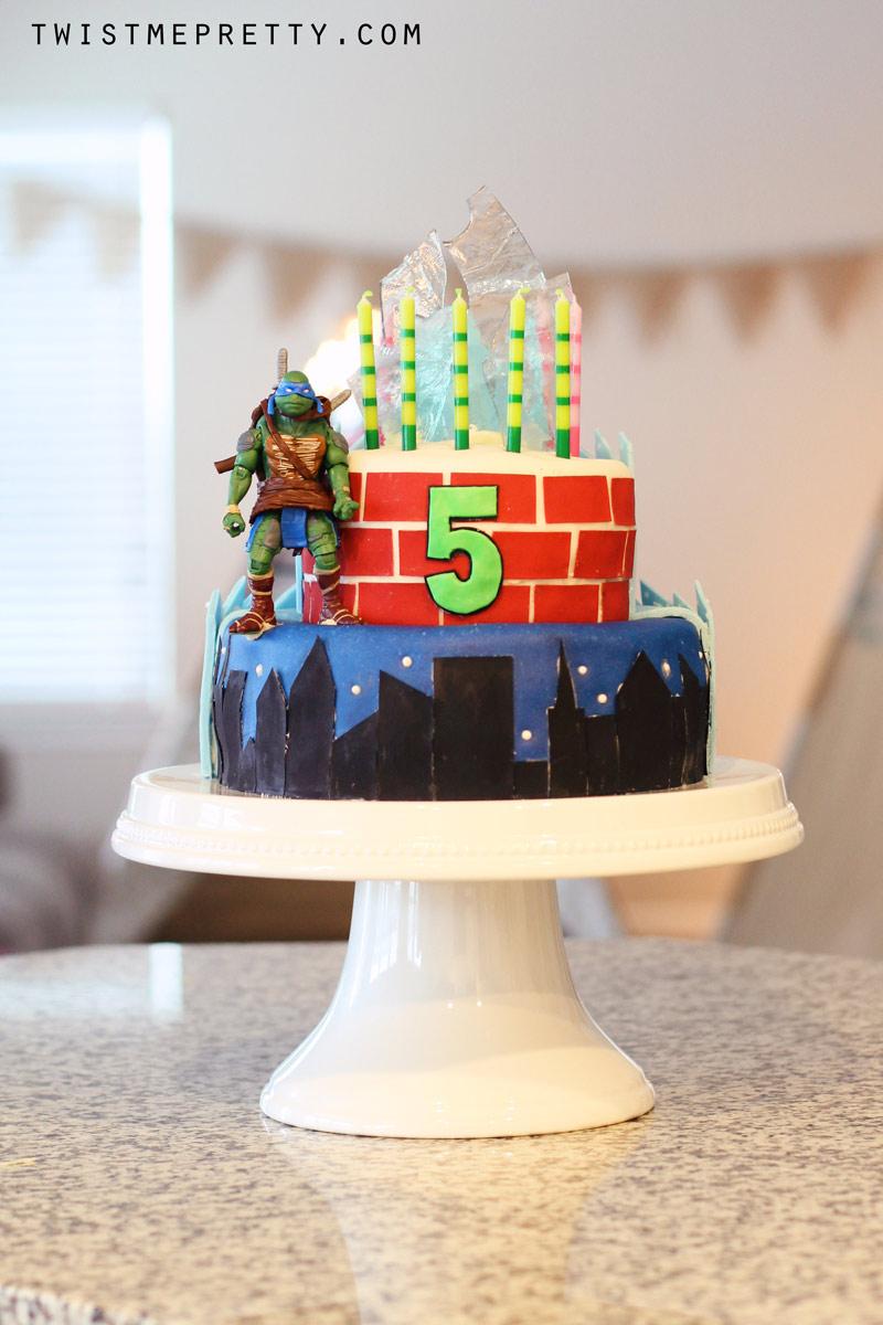 Frozen And Ninja Turtle Birthday Cake Twist Me Pretty